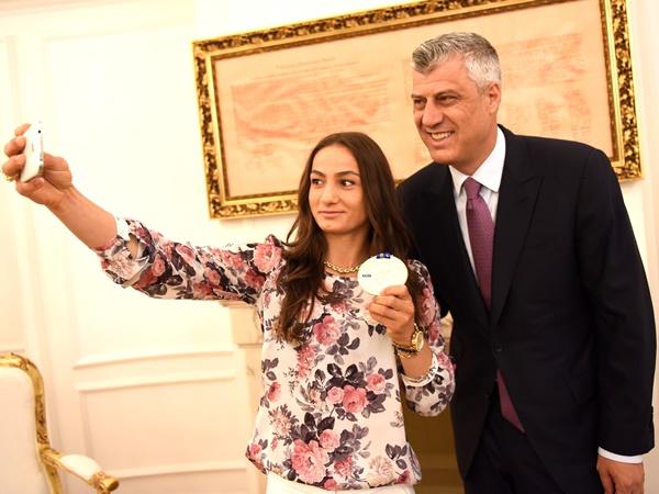 Majlinda Kelmendi Hashim Thaci